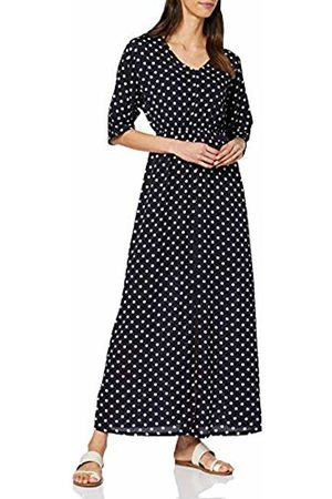 Mela Women's Polka Dot V Neck Maxi Dress Casual