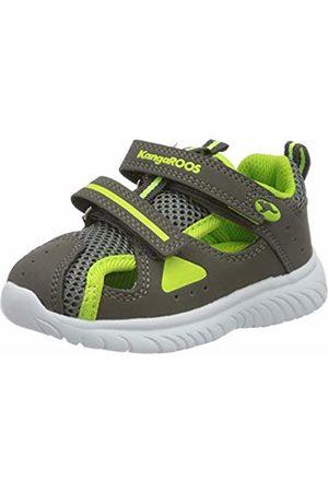 KangaROOS Unisex Babies' Ki-Rock Lite V Low-Top Sneakers, (Steel /Lime 2014)