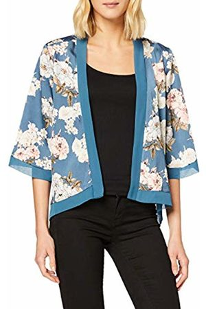 Mela Women Blouses - Women's Floral Satin Short Length Kimono Blouse