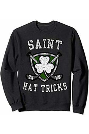 St Patricks Day Viral Shirts Saint Hattrick st Patrick's Day Hockey Hat Tricks Boys Men Sweatshirt