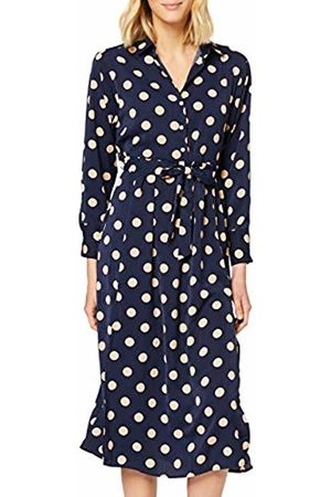 Mela Women's Polka Dot Midi Shirt Dress Casual