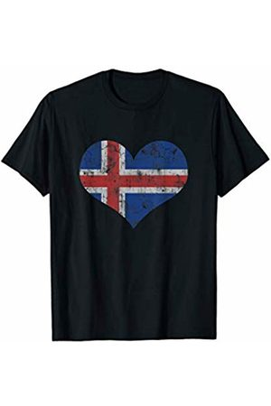 Tee Styley Iceland Flag Icelander Love Heart Home Vacation Family T-Shirt