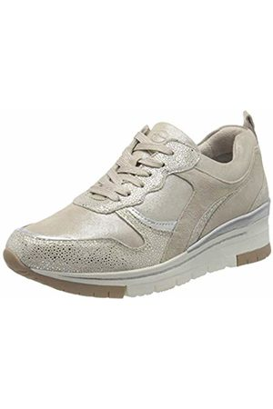 Tamaris Women's Pure Relax 1-1-23780-24 Leder Trainers, (Champagne Comb 116)