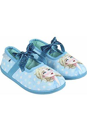 Artesanía Cerdá Girls' Zapatillas De Casa Bailarina Frozen 2 Open Back Slippers, (Azul C37)