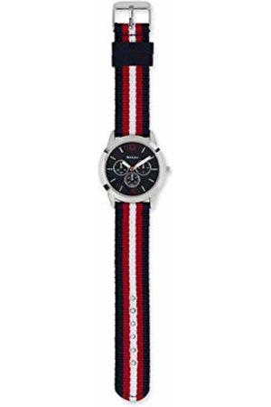 Tikkers Boy's Analogue Analog Quartz Watch with Cotton/Canvas Strap ATK1056