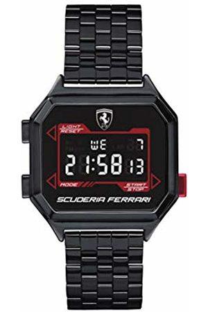 Scuderia Ferrari Men's Digital Quartz Watch with Stainless Steel Strap 0830704