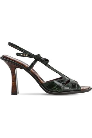 SIES MARJAN 90mm Diana Croc Embossed Leather Sandals
