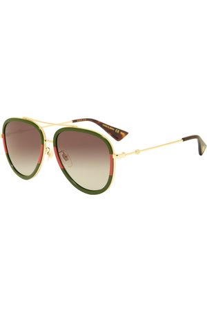 Gucci Gucci Sylvie Web Block Aviator Sunglasses