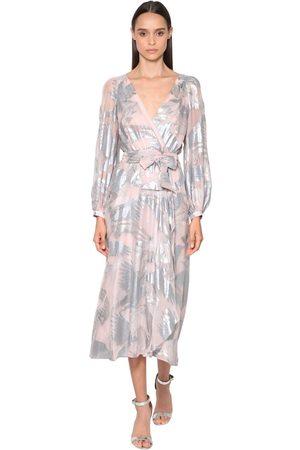TEMPERLEY LONDON Fil Coupé Wrap Midi Dress