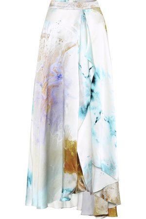 Roksanda Printed high-rise silk skirt