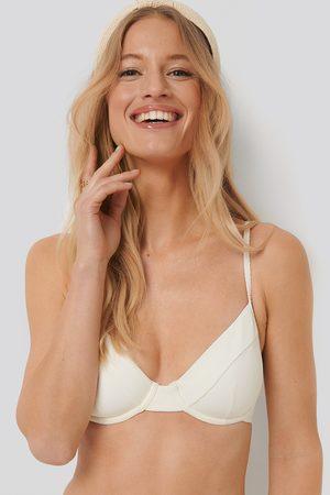 NA-KD Structured Thin Strap Bikini Cup Bra - White