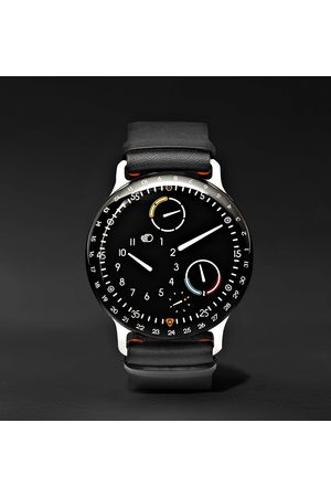 Ressence Type 3 Mechanical 44mm Titanium And Leather Watch, Ref. No. Type 3