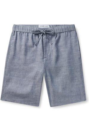 Frescobol Carioca Men Shorts - Felipe Slim-fit Linen And Cotton-blend Drawstring Shorts