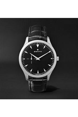Zenith Elite Ultra-Thin 40mm Stainless Steel and Alligator Watch, Ref. No. 03.2010.681/21.C493
