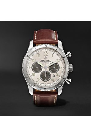 Breitling Men Watches - Navitimer 8 B01 Chronograph 43mm Stainless Steel And Leather Watch, Ref. No. Ab01171a1g1x1