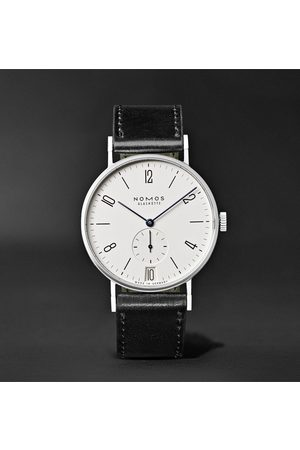 NOMOS Glashütte Tangente 38mm Datum Stainless Steel And Leather Watch, Ref. No. 130