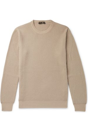 Loro Piana Men Slim - Slim-fit Ribbed Cashmere Sweater