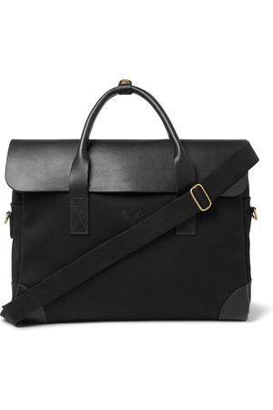 Bennett Winch Men Laptop & Business Bags - Cotton-canvas And Full-grain Leather Briefcase