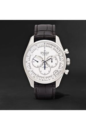 Zenith El Primero 42mm Stainless Steel and Alligator Watch, Ref. No. 03.2080.400/01.C494