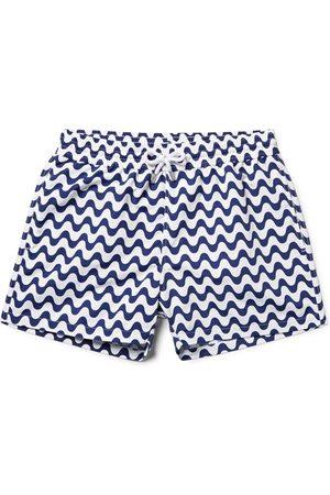 Frescobol Carioca Copacabana Slim-fit Short-length Printed Swim Shorts