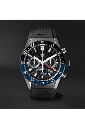 Tag Heuer Carrera GMT Automatic Chronograph 45mm Stainless Steel and Rubber Watch, Ref. No. CBG2A1Z.FT6157