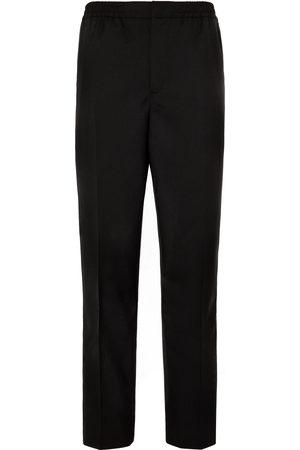 Mr P. Slim-Fit Grosgrain-Trimmed Wool Drawstring Tuxedo Trousers