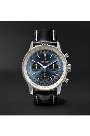 Breitling Men Watches - Navitimer 1 B01 Chronometer 43mm Stainless Steel And Alligator Watch, Ref. No. Ab0121211c1p1