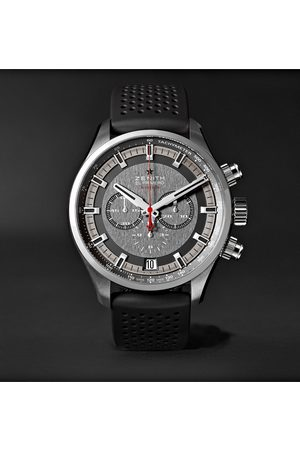 Zenith El Primero Sport 45mm Stainless Steel And Rubber Watch, Ref. No. 03.2280.400/91.r576