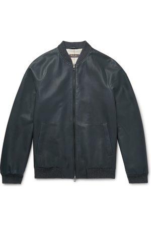 Loro Piana Ivy Rain System Leather Bomber Jacket