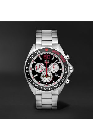 Tag Heuer Men Watches - Formula 1 Indy 500 Chronograph 43mm Brushed And Polished-steel Watch