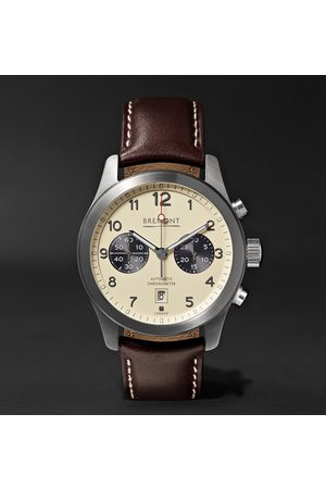Bremont Men Watches - Alt1-classic/cr Automatic Chronograph 43mm Stainless Steel And Leather Watch, Ref. No. Alt1-c/cr