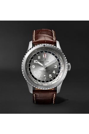 Breitling Men Watches - Navitimer 8 B35 Automatic Unitime Chronometer 43mm Stainless Steel And Alligator Watch