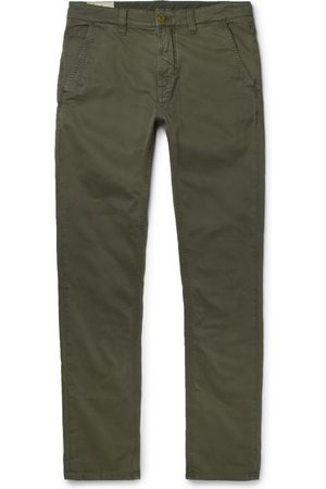 Nudie Jeans Men Skinny Trousers - Slim Adam Garment-dyed Stretch Organic Cotton-twill Trousers