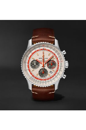 Breitling Navitimer B01 Twa Automatic Chronograph 43mm Stainless Steel And Leather Watch, Ref. No. Ab01219a1g1x2