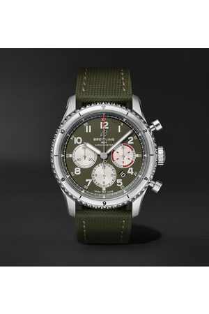 Breitling Men Watches - Aviator 8 B01 43 Curtiss Warhawk Automatic Chronograph 43mm Stainless Steel And Canvas Watch, Ref. No. Ab01192a1l1x2