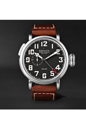 Zenith Pilot Type 20 GMT 48mm Stainless Steel and Leather Watch, Ref. No. 03.2430.693/21.C723