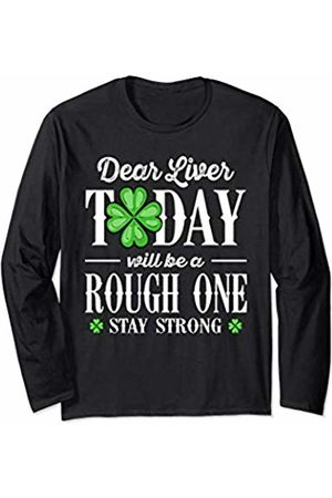 Wowsome! Dear Liver Irish St Patricks Day Funny Drinking Men Women Long Sleeve T-Shirt