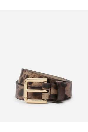 Dolce & Gabbana Collection - CALFSKIN BELT WITH LEOPARD PRINT