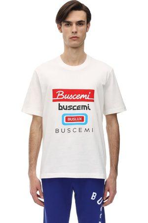 BUSCEMI Multi Logo Regular Cotton Jersey T-shirt