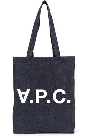 A.P.C. Women Handbags - Logo denim tote bag