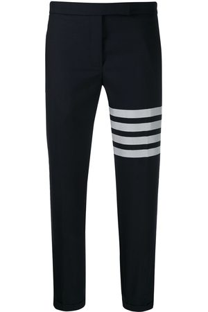 Thom Browne Plain weave 4-Bar skinny trousers