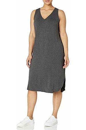 Daily Ritual Amazon Brand - Women's Plus Size Jersey Sleeveless V-Neck Dress, 1X