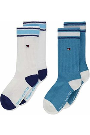 Tommy Hilfiger Boy's Th Kids Iconic Sports Sock 2p Calf, Pack of 2