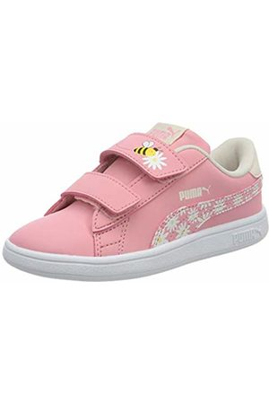 Puma Girls' Smash V2 Bees V INF Trainers, (Peony- Rosewater-Dandelion 01)