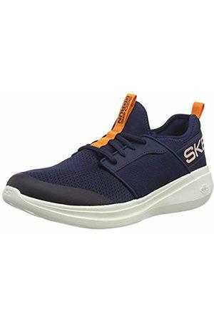 Skechers Men's GO Run Fast Steadfast Slip On Trainers, (Navy Textile/ Trim Nvor)