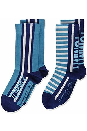 Tommy Hilfiger Boy's Th Kids Sock 2p Bold Stripe Calf