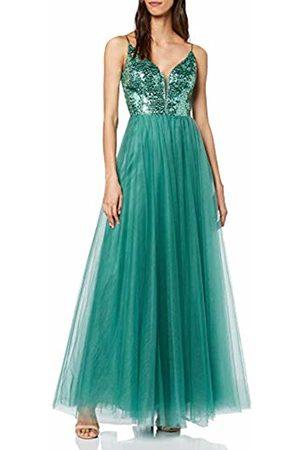 Vera Mont Women's 0105/4990 Party Dress, (Mint Leaf 5331)