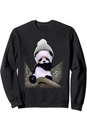 Lotta Shirts Shop Cute Panda With Beanie Sweatshirt