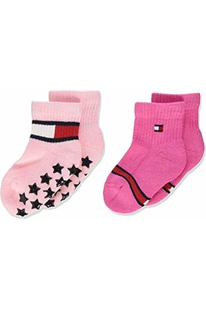 Tommy Hilfiger Girls' Th Baby Sock 2p Flag Calf ( Combo 024)