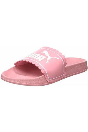 PUMA Girls' Leadcat FTR Petals JR Beach & Pool Shoes, (Peony 02)